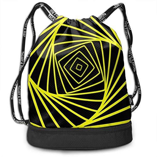 Rucksack mit Kordelzug, abstrakt, geometrisch, für Sport, Fitnessstudio, Reisen