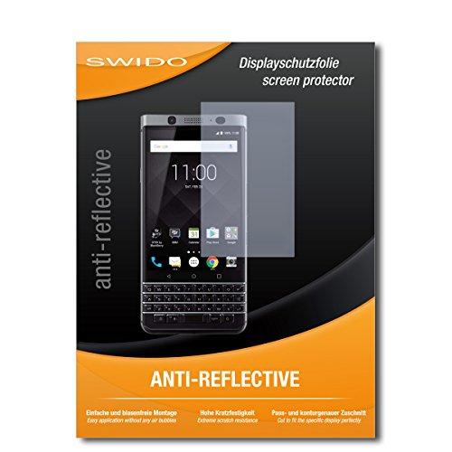 SWIDO Displayschutzfolie für BlackBerry KeyOne [3 Stück] Anti-Reflex MATT Entspiegelnd, Extrem Kratzfest, Schutz vor Kratzer/Displayschutz, Schutzfolie, Panzerfolie
