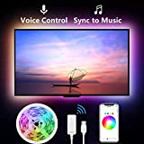 Led Strip Lights for TV, Gosund 9.2Ft TV Led Backlight Music Sync for 32-60 inch. Works with Alexa Google Home, App Remote Control, 16 Million Colors, Brighter 5050 LED, USB Powered, Only 2.4Ghz