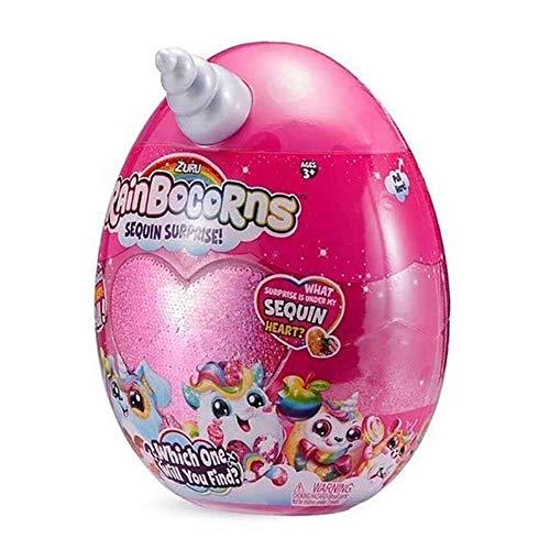 Rainbocorns, peluche a sorpresa (serie 1), con cuore in paillette reversibili, 1 bambino...