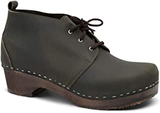 Swedish Clog Boots for Men with Leather Upper   Chukka
