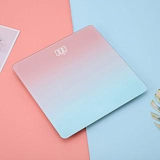 YALIXI Báscula electrónica, pantalla USB recargable por USB oculta, báscula de baño, báscula electrónica de colores degradados, compatible con 369 libras, B