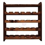 in legno massiccio 166/x 63/x 33/cm Modo24.de R-09 Libreria con 5/mensole
