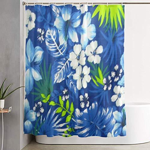 VINISATH Duschvorhang,Hawaiianisches Königsblau,wasserdichter Badvorhang mit 12 Haken Duschvorhangringen 180x180cm