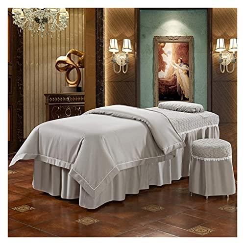 Set de mesa de mesa de masaje de 4 piezas hoja de Color sólido Cubierta de cama de belleza simple Fumigación para el cuerpo de la...