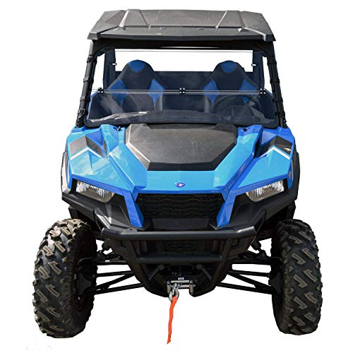 Polaris General Windshield - Full Folding -SCRATCH RESISTANT- The Ultimate in Side By Side Versatility! Easy on/Easy off. True Full to Half. Premium polycarbonate w/Hard Coat.!