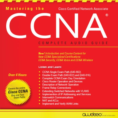 Mastering the CCNA Audiobook audiobook cover art