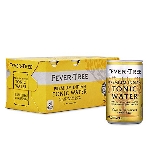 Fever-Tree Premium Indian Tonic Water Cans, No Artificial Sweeteners, Flavorings & Preservatives, 5.07 Fl Oz (Pack of 24)