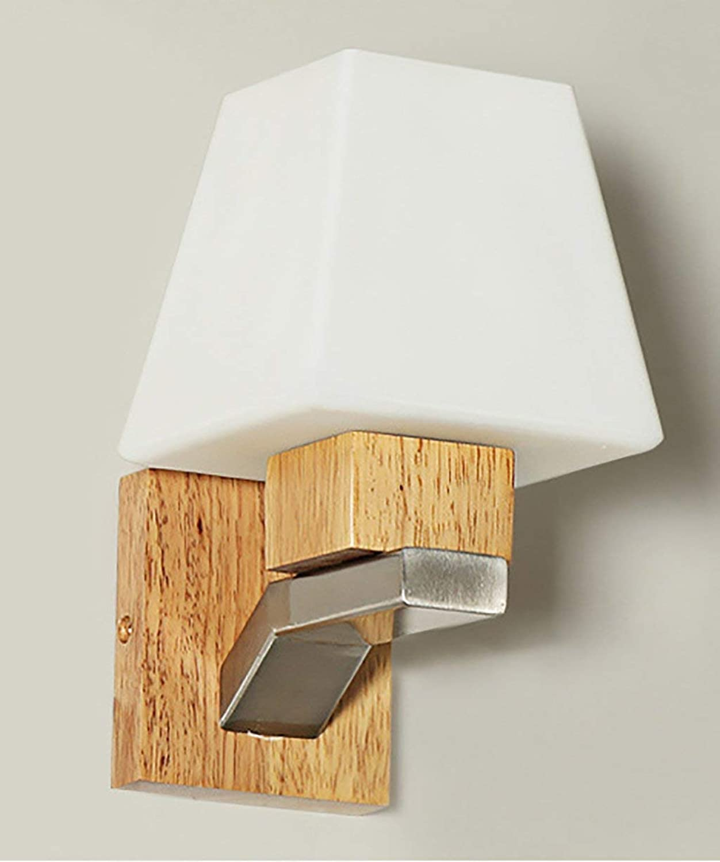Wandleuchte Light Single Head Kreative moderne Holz- einfache Wandleuchte Massivholz Bett Schlafzimmer Wohnzimmer Gang Balkon Flur Wandleuchte