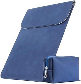 スリーブケース インナーケース macbook pro/air 13.3インチ macbook ケース ノートパソコン バッグ ノートパソコン カバー マグネット開閉 薄型・軽量 ミニポーチ付き(紺)