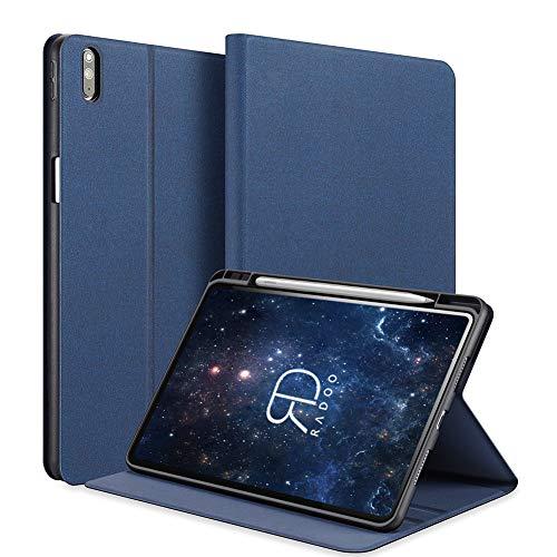 Radoo Hülle für Huawei MatePad Pro 10.8 Zoll mit Pencil Halter,Ultra Dünn Denim Hochwertiges PU Leder Schutzhülle mit Ständer & Auto Einschlaf/Aufwach Funktion Hülle (Blau)