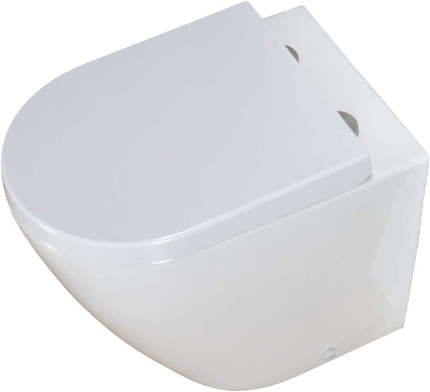 KLARA Toilet WC Back To Wall Concealed Cistern Tank Housing Cloakroom White Soft Close Seat (365 mm W x 530 mm D x 410 mm H)