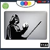 Adesivo Star Wars Darth Vader - - PER TUTTI I MODELLI DI Mac Book Apple 15-17 pollici - - ADESIVO PER QUALSIASI COMPUTER ANCHE NON MAC BOOK - PC - COLORE NERO Cod. 1132