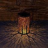 Mooyod Lámparas solares de jardín, de metal, para exteriores,...