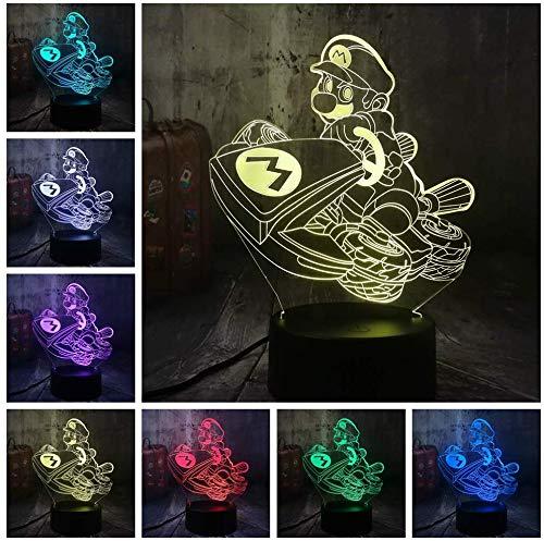 Nachtlicht Illusion Lampe Neuheit Spiel Super Mario Multicolor 3D Led USB Schreibtischlampe Wohnkultur Kind Kind Spielzeug Geburtstag Weihnachten Neujahr Geschenk