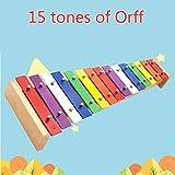 JESU 15-Note Xilófono Música Musicales Xilófono, Madera Un Instrumento De Percusión para Niños Música Juguete Educativo Percusión Educativo Desarrollo Cumpleaños Regalo