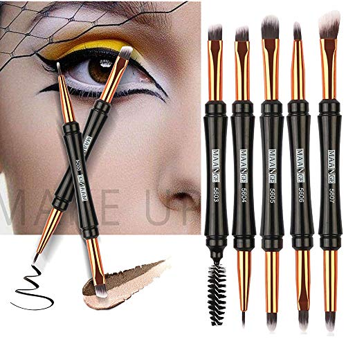Yazidan Make-up-Pinsel Doppelte Lidschattenbürste Mascara-Bürste-Wimper-Pinsel-Applikator Make-up-Kosmetikwerkzeug