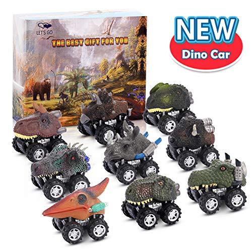 ATOPDREAM Spielzeug Junge 2-5 Jahre, Dinosaurier Spielzeug Auto 2 3 4 5 Jahre MäDchen Geschenk Die Besten Geburtstagsgeschenke für Jungen MäDchen Kinderspielzeug ab 2-5 Jahren (9er Pack)