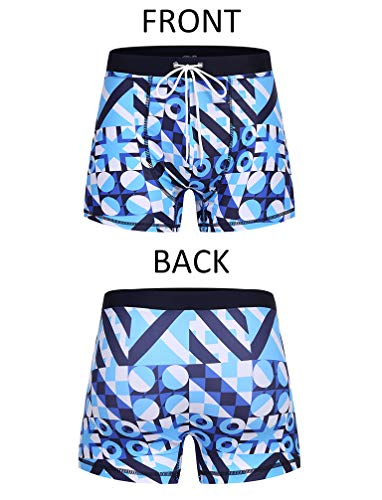 COOFANDY Men's Square Leg Swim Briefs Printed Swimsuit Athletic Swimwear Bathing Suit Swimming Trunks
