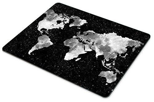 Smooffly Gaming Mouse Pad Custom,World Map Silhouette Pattern Mouse Pad Non-Slip Thick Rubber Large Mousepad Photo #5