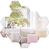 15 Pieces Mirror Sheets Flexible Non Glass Mirror Plastic Mirror Self Adhesive Tiles Mirror Wall Stickers (3.5 Inch)