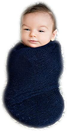 5e381081c Auberllus Photography Prop Newborn Infant Stretch Knit Wrap Blanket Shawl  Baby Photo Backdrop