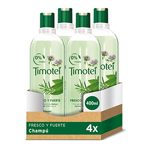 Timobak shampoo, vers en sterk, kruiden – 400 ml – [Pack]