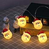 SWQG-Sartén Luces Santa Claus Luz LED Al Aire Libre Línea Exterior Guirnalda Interior Cubierta De La Puerta del Jardín Hada Decoracion Navidad Fiesta AA-Luces (Size : 13.1FT 20LED-USB)