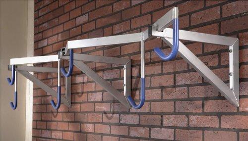 Mottez Range 6 vélos modèle Pro 200x35x55cm Adulte Unisexe, Gris, 200 x 35 x 55 cm