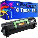PlatinumSeries 4 Toner XXL compatible para Lexmark MS-310 MS310D MS310DN MS312DN MS310DN MS410D MS410DN MS510DN MS610DE MS610DN MS610DTE MS610DTN | 50F2H00 negro cada 5,000 páginas