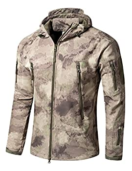 YFNT Men s Army Special Ops Military Tactical Jackets Softshell Fleece Hooded Outdoor Jacket Coat US Medium CN Large Ruins Grey