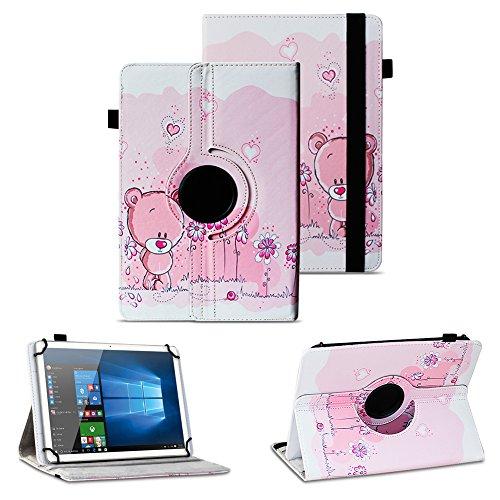 NAUC Schutzhülle für Alcatel Pixi 4 7 Zoll Tablet Tasche Hülle mit Standfunktion 360° drehbar Kunst-Leder Cover Universal Case, Farben:Motiv 2