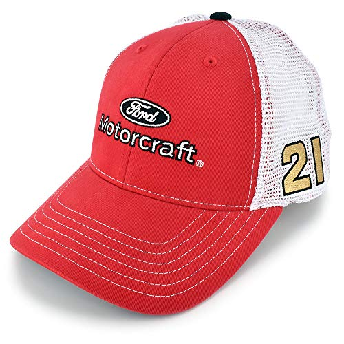 Checkered Flag Matt DiBenedetto 2020#21 Sponsor Mesh Hat Red