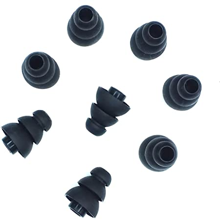 Xcessor Triple Flange 4 Paar Hochwertige Gummi Silikon Elektronik