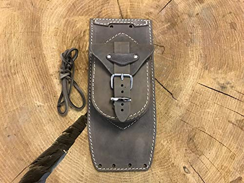 ORLETANOS Protège-réservoir en cuir marron compatible avec Harley Davidson Fatboy Heritage Fat Boy Deluxe Classic Springer - Petit sac - Panneau de réservoir HD