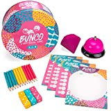 Bunco: A Very Social Game - 12-Player Party Dice Game Includes Dice, Scorecards, Pencils, Bell, & Squishy Traveling Jewel - Family Game Night Board Games, Party Supplies, & Fun Activities