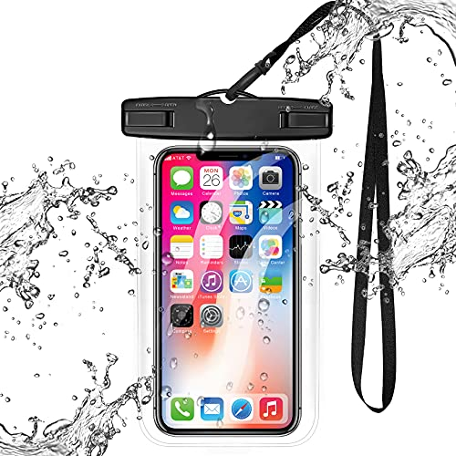 Universal Clear Waterproof Case,xiwxi Cellphone Dry Bag,IPX8 Waterproof Phone Pouch Compatible for iPhone 1211 8 7 Pro...