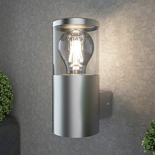 NBHANYUAN Lighting®Buitenverlichting Buitenwandlamp Roestvrij staal Externe weerbestendige lamp voor veranda, voordeur IP44 (lamp niet inbegrepen)