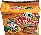 Samyang Curry Hot Chicken Flavour Ramen Noodles, 140 g (Pack of 5)