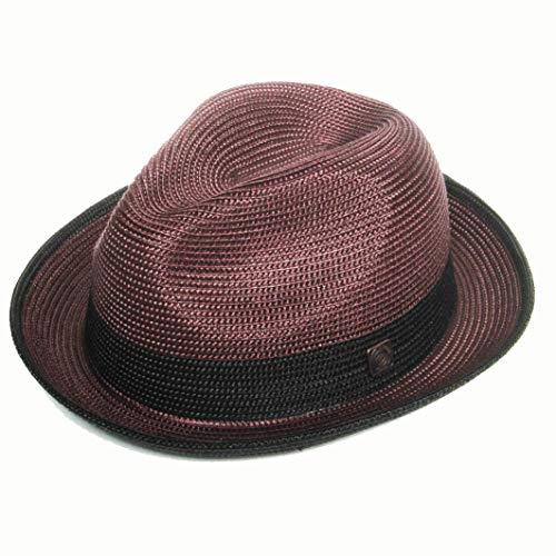 DASMARCA-Collection été- déformable et Compressible Chapeau de Paille Style Fedora-Florence Bordeaux-M