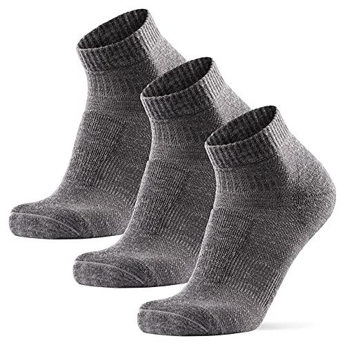 DANISH ENDURANCE Hiking Low-Cut Socks, 3 Pack (Gris, 39-42)