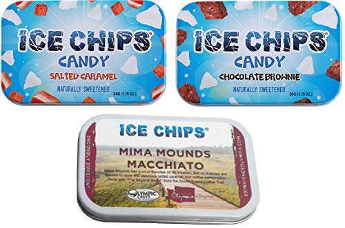 ICE CHIPS Candy 3 Pack Assortment (Salted Caramel, Chocolate Brownie & Macchiatto)