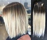 10' 18' Full Head 100% Human hair Clip in Hair extensions (10'/25cm, Dark brown...