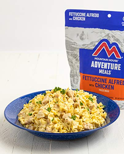 Mountain House Fettuccine Alfredo with Chicken | Freeze Dried Backpacking & Camping Food | 2-Servings