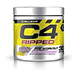 C4 Ripped Pre Workout Powder Berry Brainiacs | Creatine Free + Sugar Free Preworkout Energy Supplement for Men & Women | 150mg Caffeine + Beta Alanine + Weight Loss | 30 Servings