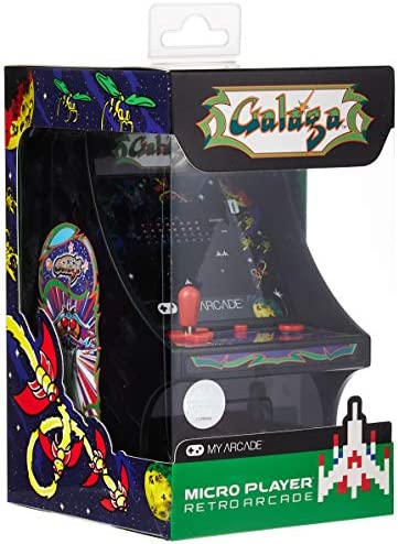My Arcade Micro Player Mini Arcade Machine Galaga Video Game Fully Playable 6 75 Inch Collectible product image