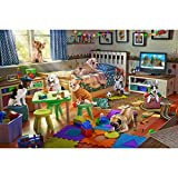 Lavievert 1000 Piece Jigsaw Puzzle Game for Adults and Kids - Naughty Doggies