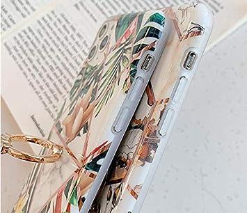 MoreChioce kompatibel mit Samsung Galaxy A50 H/ülle Marmor Glitzer Diamant Silikon Handyh/ülle mit Ring St/änder Geometrisch Marble Strass Transparente TPU Schutzh/ülle Tasche Bumper,Blume