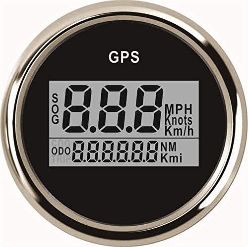 No-branded Odometer Spur 52mm Digital-GPS-Entfernungsmesser Auto Meter Speedometers 0-999km / h mph Knoten Zeigen 9-32V Wasserdicht Geschwindigkeit Kilometerzähler ZHQHYQHHX