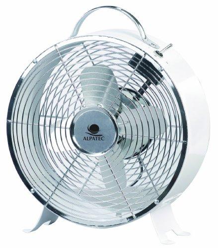Alpatec BF 44 - Ventilatore rotondo, 20 W, colore: Bianco